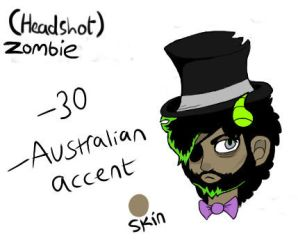 Zombie quick headshot reference by PartyingWithSloths