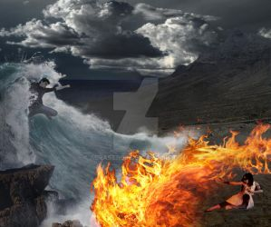 Water and Fire by Adrastros