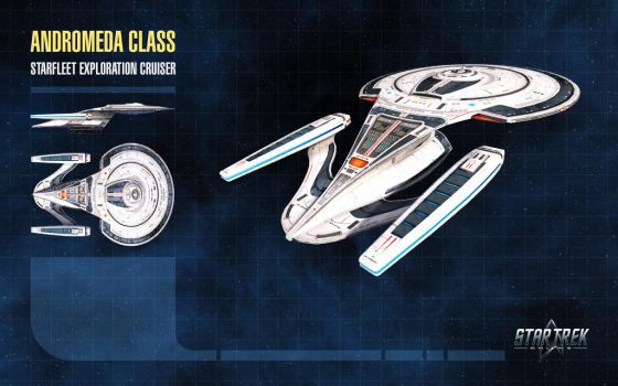 Andromeda Class Starship for Star Trek Online by thomasthecat