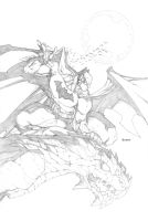 Batman on Gargoyle by mikebowden