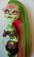Monster High Custom Venus Day of the Dead Take 2 by AdeCiroDesigns