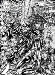 Genesis 2 Cover B and W by johnbecaro