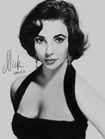 Elizabeth Taylor by Nickenings