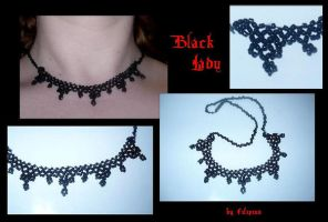 Black Lady choker by Marchia