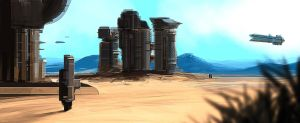 Desert Mining Station by JamesLedgerConcepts