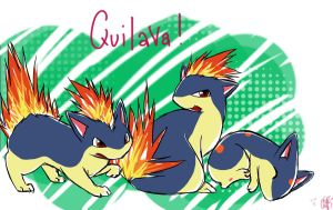 Pokemon: Quilava by Angels-Leaf