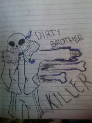 [UNDERTALE] (Spoiler?) Dirty Brother Killer by DerpyFoxGirl