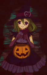 Color Me - Halloween Chan By daPatches by SoukatsuKuro