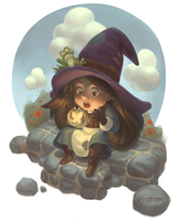 Little Witch in Training by nozomi-M