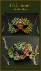 Oak Forest - Leather Mask by windfalcon