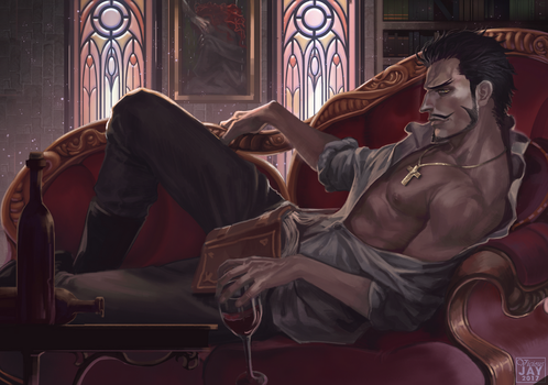 Commission: Mihawk Dracule by ViciousJay