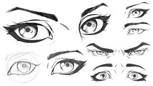 Comic Eyes Study Sheet by robertmarzullo