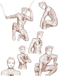 Sketch dump - spiderman edition. by Misfit400