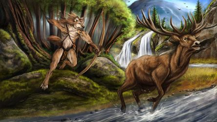 Deer Hunt by AnsticeWolf
