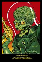 Mars Attacks Sketch in Color by LostonWallace
