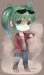 [+speedpaint video] Miku chibi by Miuseorin