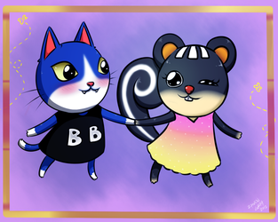 Animal Crossing: Tom and Blaire by MabiNerinee