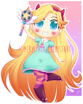 Star Butterfly by AnnieCatDraws