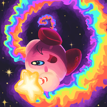 Kirby and the Rainbow Swirl by ShadedPenumbra