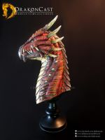 Spined Dragon bust 1 - painted by drakoncast