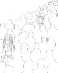 Looking in a crowd of nobodies by Son23