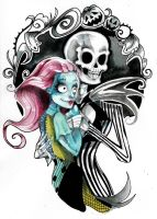 Nightmare Before Christmas - Sally and Jack by mi-chie