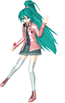 Project Diva Arcade Future Tone Ribbon Girl Miku by WeFede