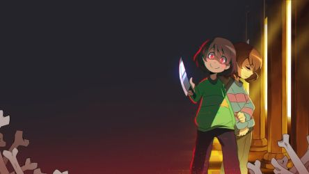 UNDERTALE - Chara/Frisk Wallpaper by ffSade