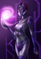 Comissions Robot short hair Raven by ibenz009