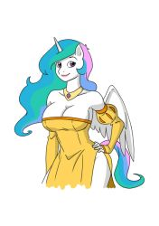 New Anthro Celestia by thecreator9