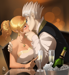Champagne kiss by AonikaArt