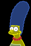 Neon Marge Simpson by Ellittest