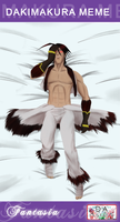 dAF: Dakimakura Riley by witch-girl-pilar
