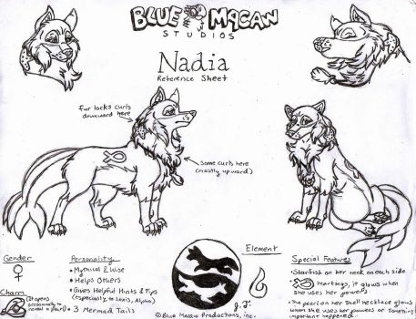 Nadia Reference Sheet by joshbluemacaw