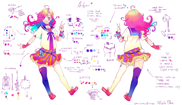 Aika Reference page by BlueFly-shi
