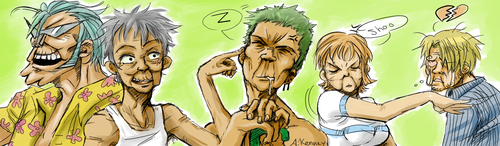 One Piece - Old Farts by AprilPolitano