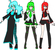 Vocaloid Trio by Marilenda