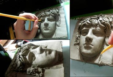 Bacchus face wip by SILENTJUSTICE