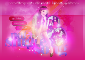 Header PSD || Dulce Maria by notasinglesong2