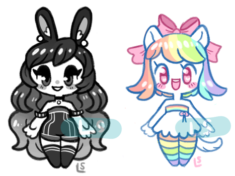 (closed) OTA colorful girlfriend adopts by lazy-spoon