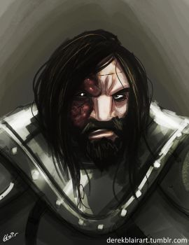 Daily Warm-Up: The Hound by derekblairart
