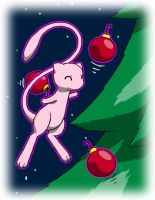 Pokemon Christmas scene no. 5 by mew-at-heart