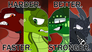 Harder, Better, Faster, Stronger- WoF Antagonists by Jomadis