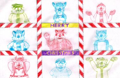 Christmas Characters by BruBadger