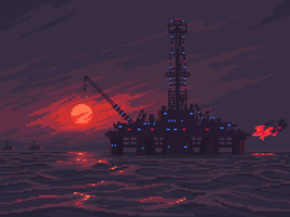 Oil rig by 5ldo0on