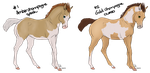 Foal adopts 2 - PRICES LOWERED by Lemonegrass