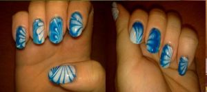 Blue watermarble by Lostrissy