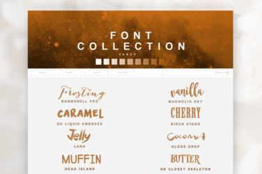 Font Pack 01 | Fancy by SugarRush19
