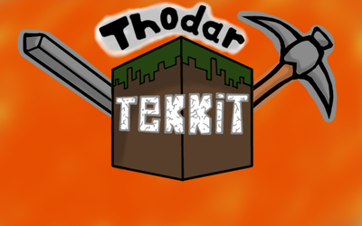 Thodar Tekkit Let's Play Logo by Thefirehazard1