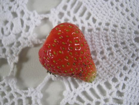 Strawberry On A Table Cloth by Priness-Lady-Nicola